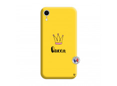 Coque iPhone XR Queen Silicone Jaune