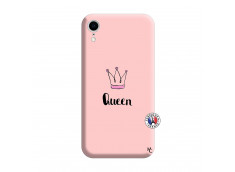 Coque iPhone XR Queen Silicone Rose