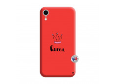 Coque iPhone XR Queen Silicone Rouge