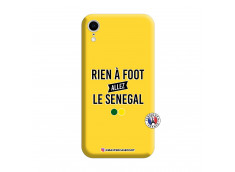 Coque iPhone XR Rien A Foot Allez Le Senegal Silicone Jaune