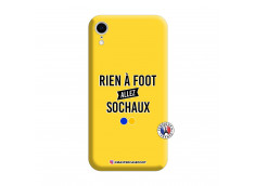 Coque iPhone XR Rien A Foot Allez Sochaux Silicone Jaune