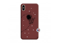 Coque iPhone XS MAX Astro Boy Silicone Bordeaux