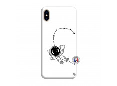 Coque iPhone XS MAX Astro Girl Silicone Blanc