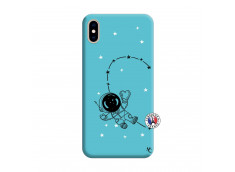 Coque iPhone XS MAX Astro Girl Silicone Bleu