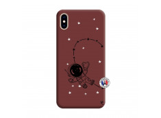 Coque iPhone XS MAX Astro Girl Silicone Bordeaux