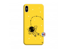 Coque iPhone XS MAX Astro Girl Silicone Jaune