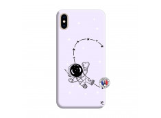 Coque iPhone XS MAX Astro Girl Silicone Lilas