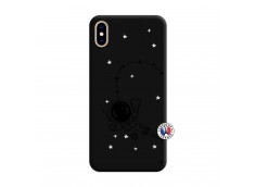 Coque iPhone XS MAX Astro Girl Silicone Noir