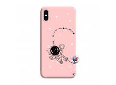 Coque iPhone XS MAX Astro Girl Silicone Rose
