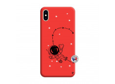 Coque iPhone XS MAX Astro Girl Silicone Rouge