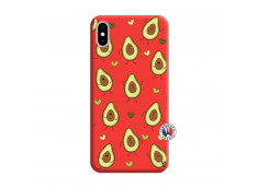 Coque iPhone XS MAX Avocats Silicone Rouge