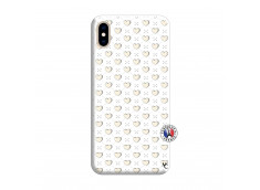 Coque iPhone XS MAX Little Hearts Silicone Blanc