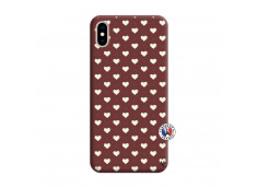 Coque iPhone XS MAX Little Hearts Silicone Bordeaux