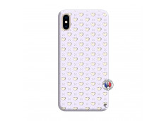 Coque iPhone XS MAX Little Hearts Silicone Lilas