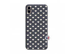 Coque iPhone XS MAX Little Hearts Silicone Navy