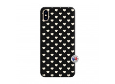 Coque iPhone XS MAX Little Hearts Silicone Noir