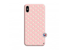 Coque iPhone XS MAX Little Hearts Silicone Rose