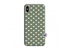Coque iPhone XS MAX Little Hearts Silicone Vert