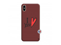 Coque iPhone XS MAX I Love You Silicone Bordeaux