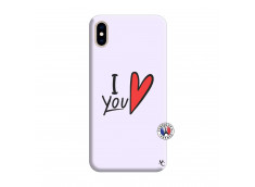 Coque iPhone XS MAX I Love You Silicone Lilas