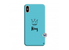 Coque iPhone XS MAX King Silicone Bleu