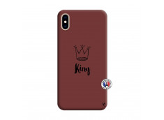Coque iPhone XS MAX King Silicone Bordeaux