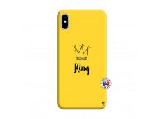 Coque iPhone XS MAX King Silicone Jaune