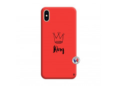 Coque iPhone XS MAX King Silicone Rouge