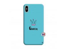 Coque iPhone XS MAX Queen Silicone Bleu