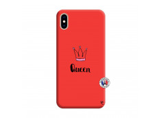 Coque iPhone XS MAX Queen Silicone Rouge