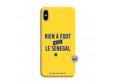 Coque iPhone XS MAX Rien A Foot Allez Le Senegal Silicone Jaune