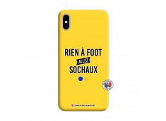 Coque iPhone XS MAX Rien A Foot Allez Sochaux Silicone Jaune