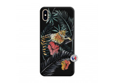 Coque iPhone XS MAX Leopard Tree Silicone Noir