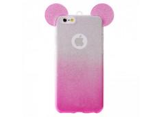 Coque iPhone 6 Plus/6S Plus Glitter Mickey-Rose