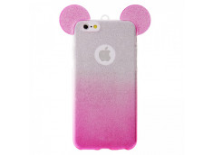 Coque Samsung Galaxy S6 Glitter Mickey-Rose