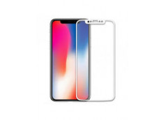 Verre trempé iPhone X-(Full écran)-Blanc