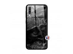 Coque Samsung Galaxy A70 Black Marble Verre Trempe