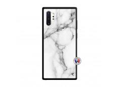 Coque Samsung Galaxy Note 10 Plus White Marble Verre Trempe