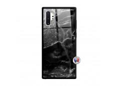 Coque Samsung Galaxy Note 10 Plus Black Marble Verre Trempe