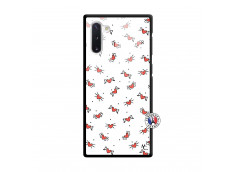 Coque Samsung Galaxy Note 10 Cartoon Heart Verre Trempe