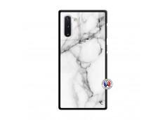 Coque Samsung Galaxy Note 10 White Marble Verre Trempe