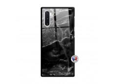 Coque Samsung Galaxy Note 10 Black Marble Verre Trempe