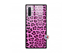Coque Samsung Galaxy Note 10 Pink Leopard Verre Trempe