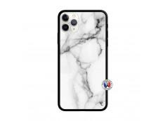 Coque iPhone 11 PRO MAX White Marble Verre Trempe
