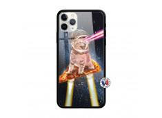Coque iPhone 11 PRO MAX Cat Pizza Verre Trempe