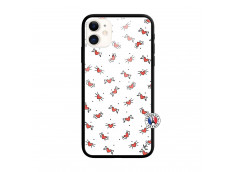 Coque iPhone 11 Cartoon Heart Verre Trempe