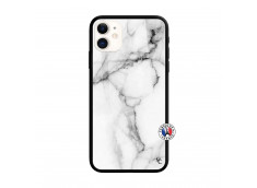Coque iPhone 11 White Marble Verre Trempe