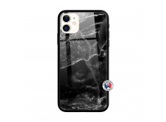 Coque iPhone 11 Black Marble Verre Trempe