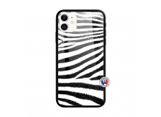 Coque iPhone 11 Zebre Style Verre Trempe