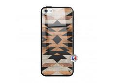 Coque iPhone 5/5S/SE Aztec Verre Trempe